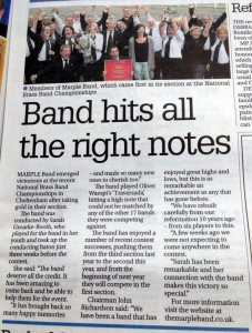 Stockport Express Article 01.10.14